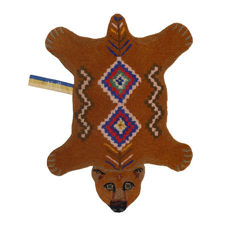 Doing Goods - Berber Grizzly Bear Rug - Brown - 89x65cm