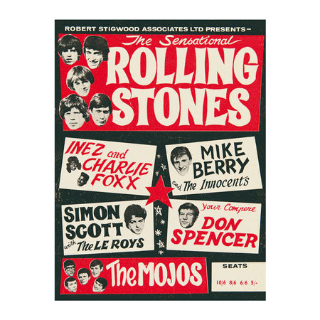 Blue Shaker - Rolling Stones Print