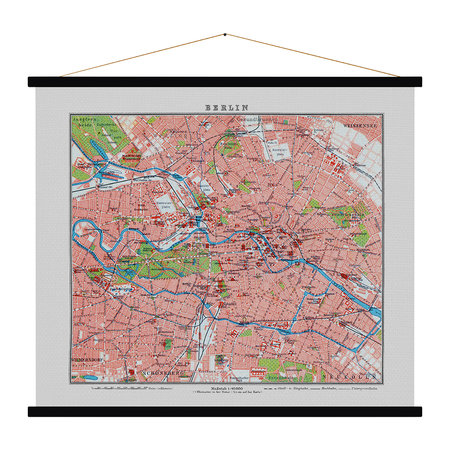 Blue Shaker - Berlin Vintage Map Print