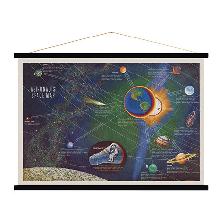 Blue Shaker - Astronauts' Space Map Print