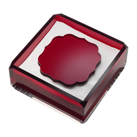 Mario Luca Giusti - Acrylic Napkin Holder - Red