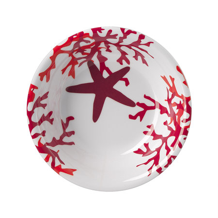 Mario Luca Giusti - Corallo Plate - Red - Small