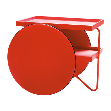 Horm & Casamania - Chariot Table - Fluro Red