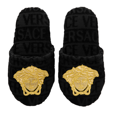 Versace Home - Barocco&Robe Slippers - Black/Gold/Bronze