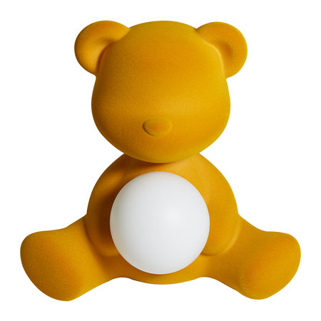 Qeeboo - Teddy Girl Samt-Lampe - Dunkles Gold