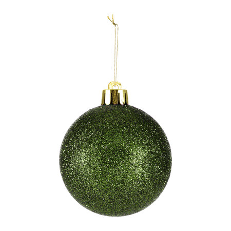 A by AMARA Christmas - Set of 33 Assorted Baubles and Tree Topper - Pine Green