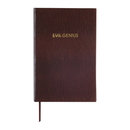 Sloane Stationery - A6 Notebook - 'Evil Genius'