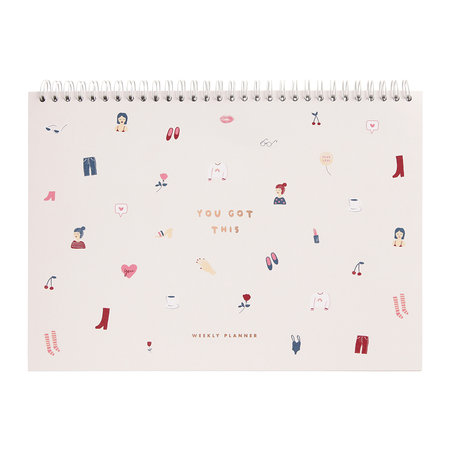 Kikki.K - There She is A4 Spiral Weekly Planner