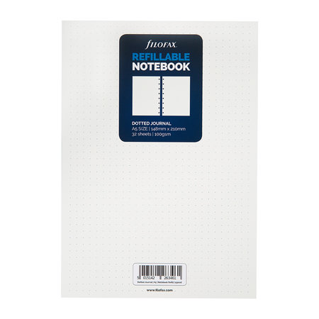 Filofax - A5 Classic Dotted Journal Refill - White - Dotted