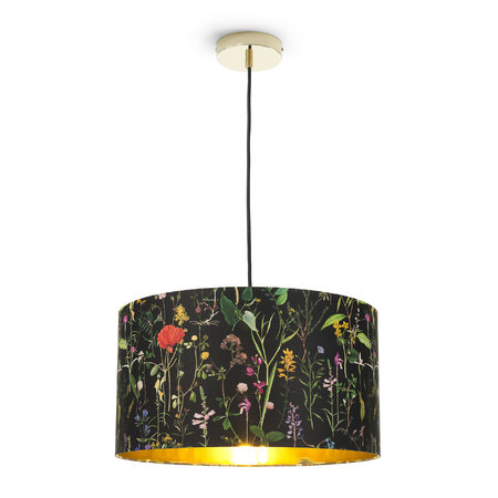 MINDTHEGAP - Aquafleur Anthracite Drum Ceiling Light - Large