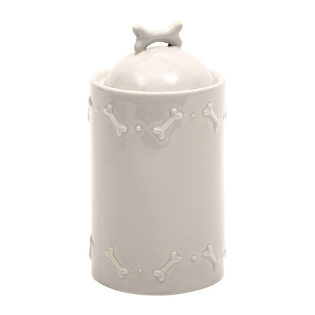 Mutts & Hounds - Ceramic Biscuit Jar - French Grey