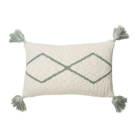 Lorena Canals - Little Oasis Knitted Pillow - 25x40cm - Indus Blue