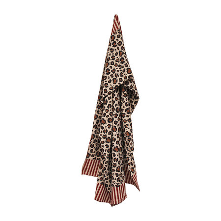 Doing Goods - Striped Leopard Throw - Brown - 240x280cm
