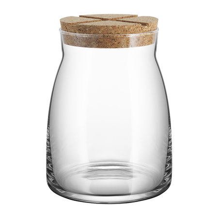 Orrefors Kosta Boda - Bruk Clear Jar with Cork Lid - Clear - Large