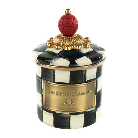 MacKenzie-Childs - Check Enamel Canister - Mini - Courtly Check