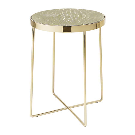 Bloomingville - Glass Round Side Table - Green