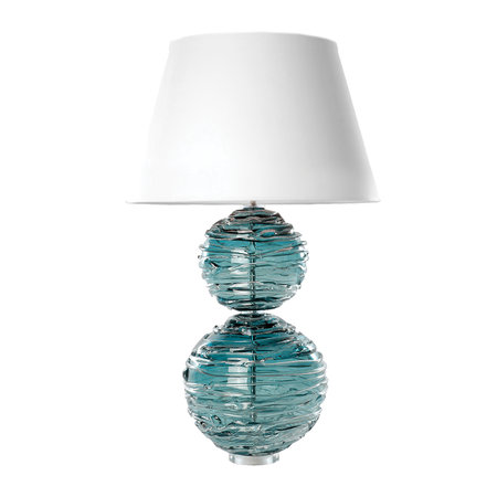 William Yeoward - Alfie Crystal Table Lamp - Turquoise - Large
