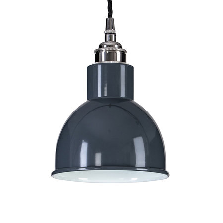 Old School Electric - Churchill Pendant Ceiling Light - Grey