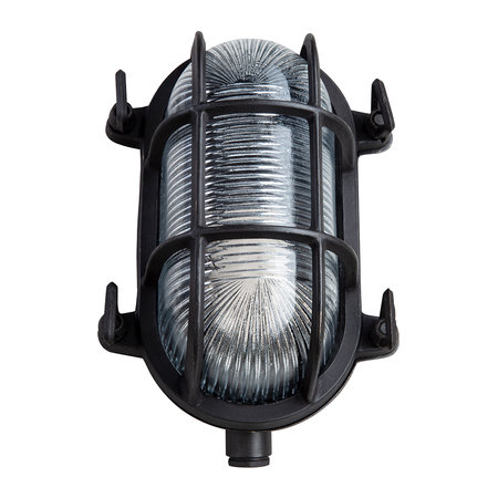 Old School Electric - Oval Bulkhead Outdoor Wall Light - Bronze - Small
