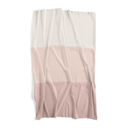 HAY - Aquarelle Shower Curtain with Horizontal Stripes - Rose