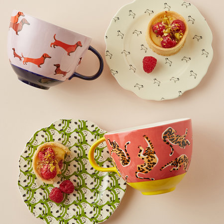 Anthropologie Home - 52 Conversation Canape Plate - Pug