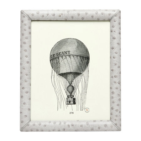 "Pigeon & Poodle - Witney Leather Frame - Light Grey - 8""x10"""