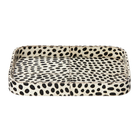 Pigeon & Poodle - Bandar Hair-On Hide Tray - Dalmatian