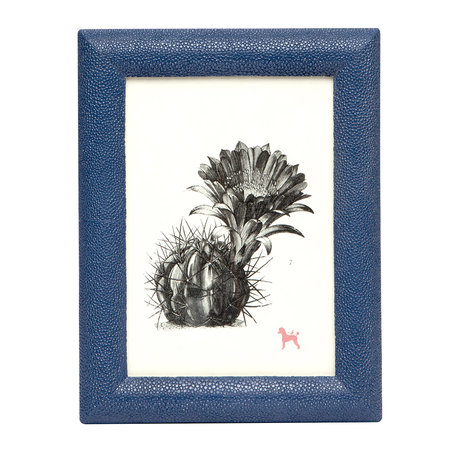 "Pigeon & Poodle - Oxford Faux Leather Frame - Navy - 5""x7"""