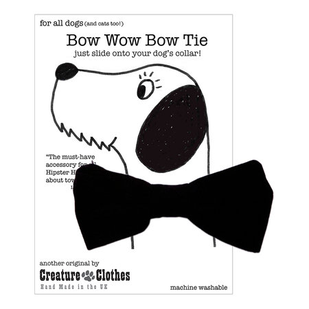 Creature Clothes - Dog Bow Tie - Black