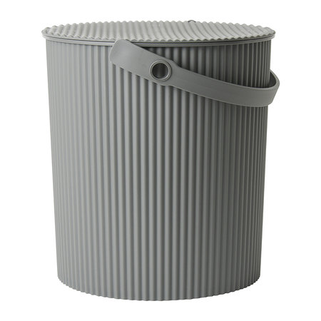 Hachiman - Omnioutil Storage Bucket with Lid - Grey - Large