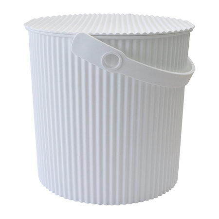 Hachiman - Omnioutil Storage Bucket with Lid - White - Large