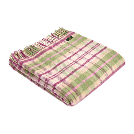 Tweedmill - Pure New Wool Cottage Check Throw - Pink