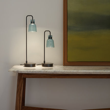 Bover - Drip Table Lamp with Dimmer - Black/Blue - 36cm