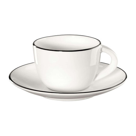 ASA Selection - Black Rim Espresso Mug and Saucer