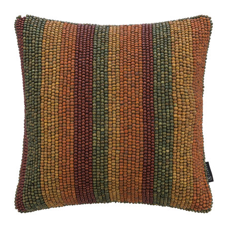 A by AMARA - Beaded Stripe Pillow - 40x40cm - Multicolor