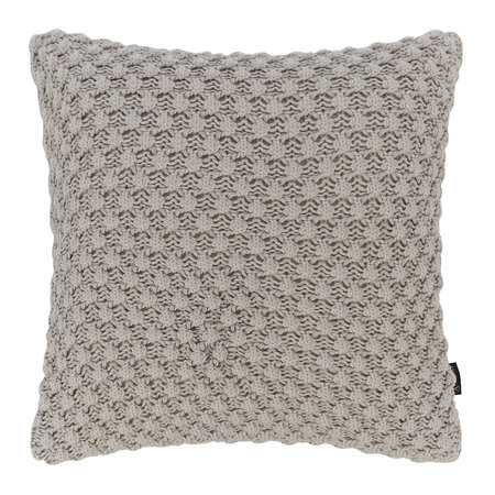 A by AMARA - Textured Knitted Pillow - 50x50cm - Gray