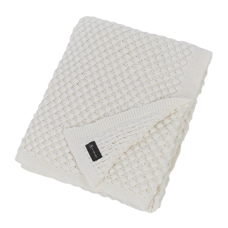 A by AMARA - Textured Knitted Throw - 130x170cm - Ivory