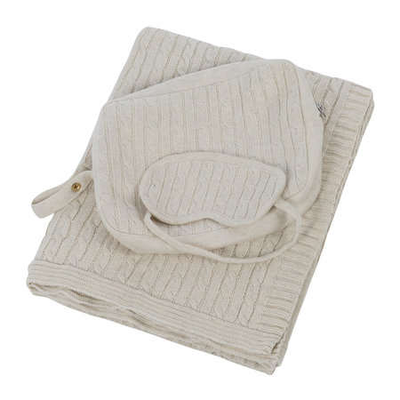 A by AMARA - Cable Knit Travel Kit - Oatmeal