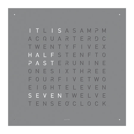 QLOCKTWO - Classic Clock - Grey Pepper