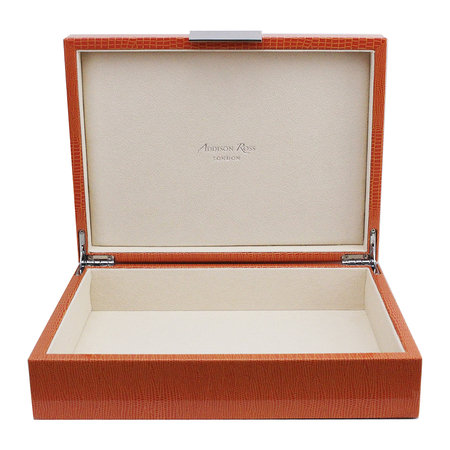 Addison Ross - Croc Box with Metal Clasp - 20x28cm - Orange