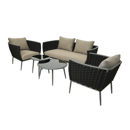AMARA Outdoors - Outdoor Woven Lounge Set - Anthracite