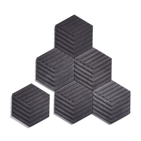 Areaware - Concrete Table Tiles - Charcoal