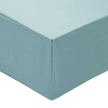 Gingerlily - 100% Silk Fitted Sheet - Teal - Super King
