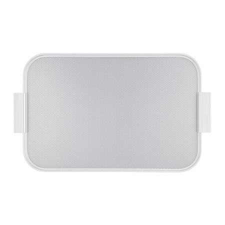 Kaymet - Ribbed Metal Tray with Handles - Silver