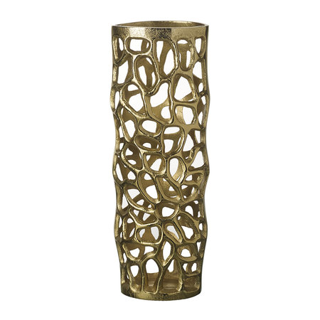 Parlane - Abstract Scupltured Vase - Gold