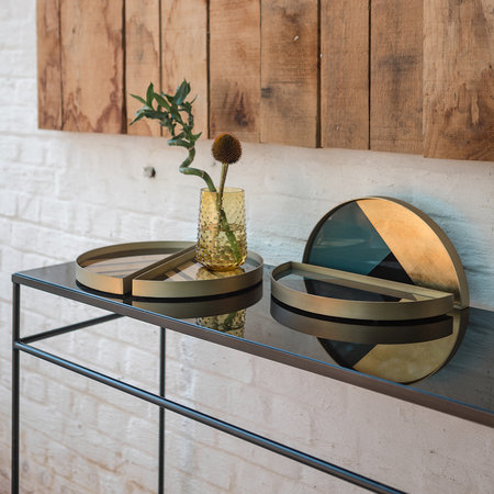 Ethnicraft - Heavy Aged Mirror Console - Charcoal