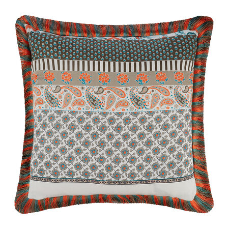 Etro - Salazar Jolly Roger Pillow with Piping - 45x45cm - Green