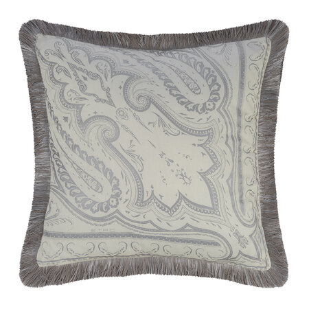 Etro - Avignone Poisson Pillow with Piping - 45x45cm - Beige