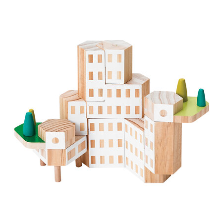 Areaware - Blockitecture Building Blocks - Garden City