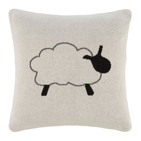 Retreat - Kids Knitted Cushion - 40x40cm - Sheep